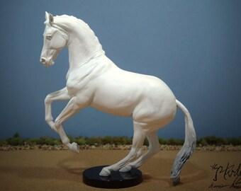 Custom Commissioned/Portrait Model Horse, Traditional Scale Stallion Valegro by Eberl (Breyer)