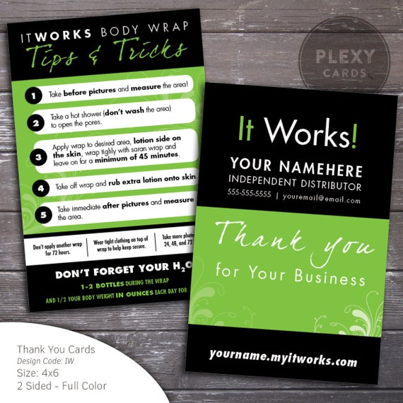 It Works Thank You Postcards With Tips For Wraps DIGITAL Etsy