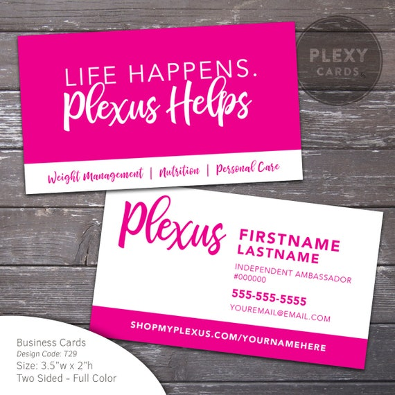 Plexus Business Cards Printed And Shipped
