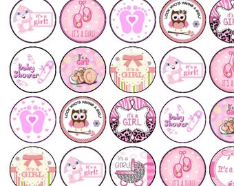 30 Assorted Baby Shower Girls/Boys Premium Rice Paper Cup Cake Toppers