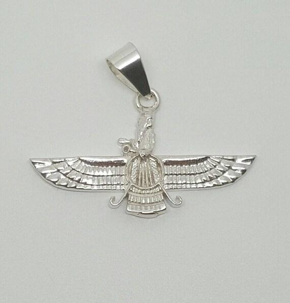 925 Sterling Silver Ahura Mazda Farvahar Zoroastrian Persian Etsy