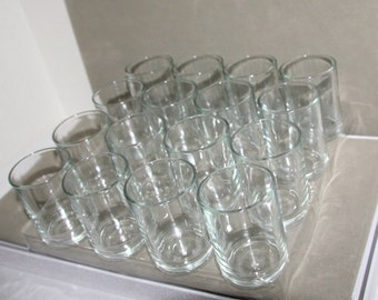 Vintage Glass Votive Holders set of 12