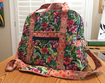 Quilted Travel or Diaper bag