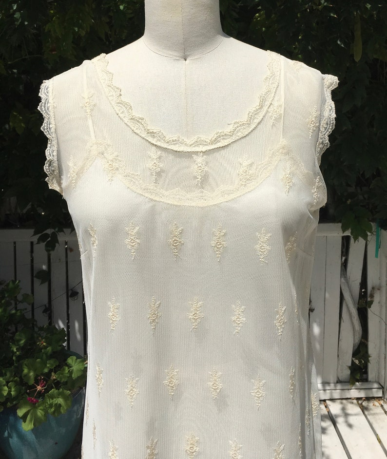 Cotton Embroidered Short Tea Gown #116 in ivory in SM