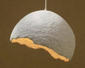 Paper mache lamp, pendant Lampshade, Papier mache pendant, ceiling lighting, Pendant lighting, Dining room lighting, Industrial lighting