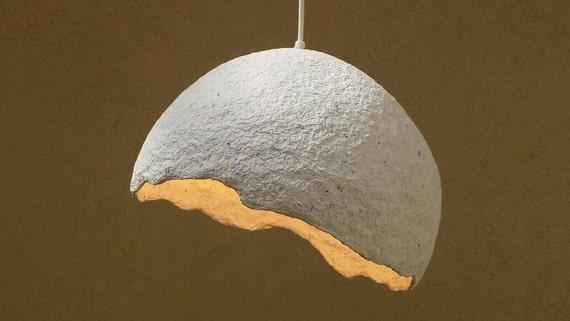 Lampadario Di Cartapesta : Lampada di carta pesta ciondolo paralume papier mache etsy