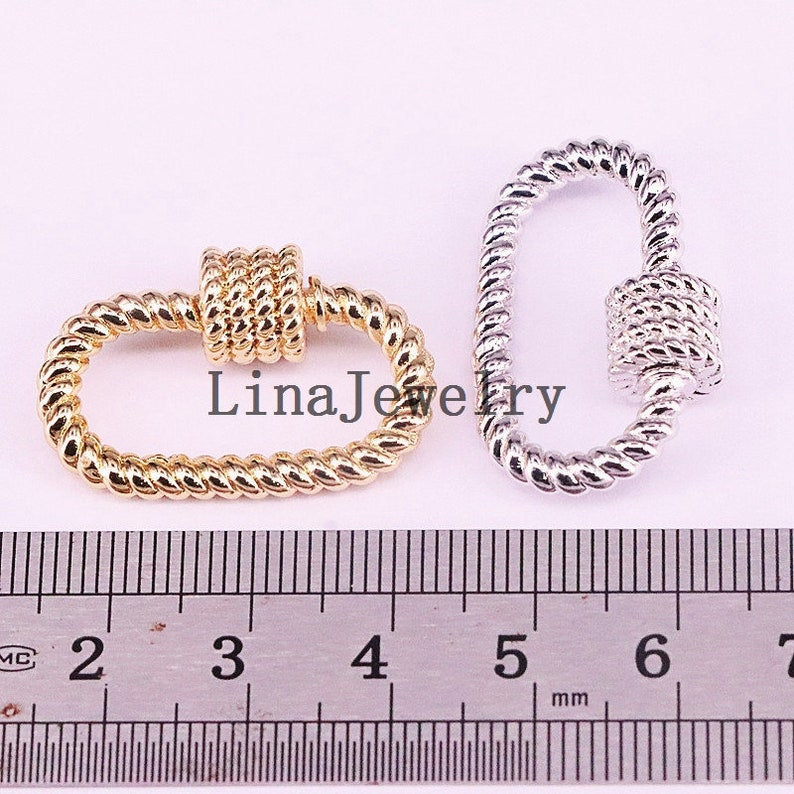 3-10pcs Plating screw clasp charm,fashion goldsilverrose goldgunmetal black color carabiner charm,necklacebracelet jewelry component