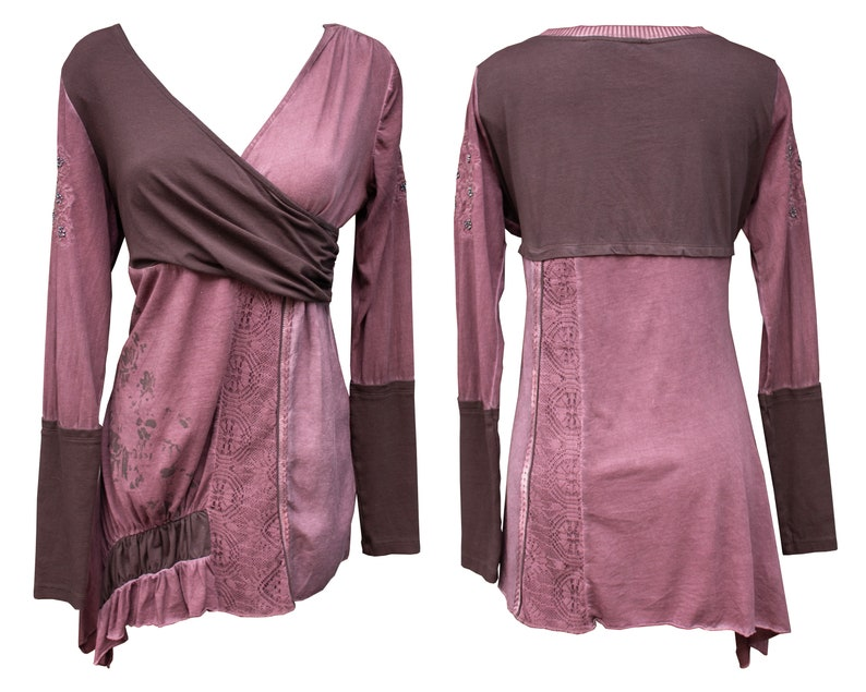 Hippie Boho Purple Winter Asymmetric Dress Angels Never Die
