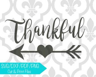 Thankful Arrow Cutting or Printing Digital File SVG