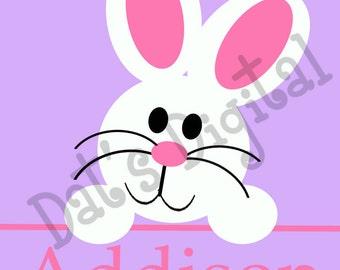 Peek a boo Bunny Cutting or Printing Digital File SVG
