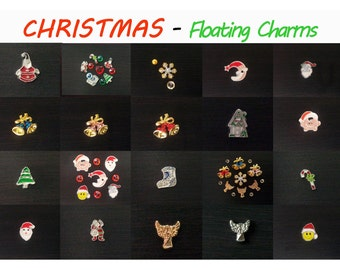 CHRISTMAS Floating Charms  for Origami Owl Living Memory Locket - T-0024.1