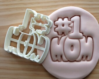 Number 1 Mom Cookie Cutter -/- Brand New -/- Made To Order -/- Made From Biodegradable Material -/- Accepting Custom Orders