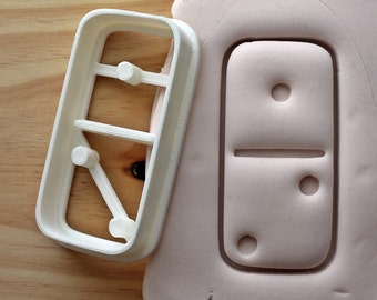 Domino Piece 1 - 2 Cookie Cutter -/- Brand New -/- Made To Order -/- Made From Biodegradable Material -/- Accepting Custom Orders