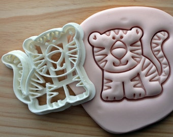 Cute Tiger Cookie Cutter -/- Brand New -/- Made To Order -/- Made From Biodegradable Material -/- Accepting Custom Orders