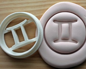 Gemini Symbol Horoscope Astrology Numerology  Cookie Cutter -/- Brand New -/- Made To Order -/- Made From Biodegradable Material
