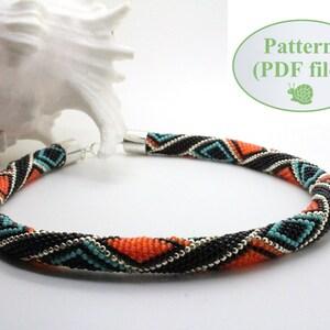 Beading Tutorial Bead Crochet Pattern Spring Meadow Silver Chain Crochet Bracelet Pattern Beaded Rope Tubular Bead  Beaded Tutorial