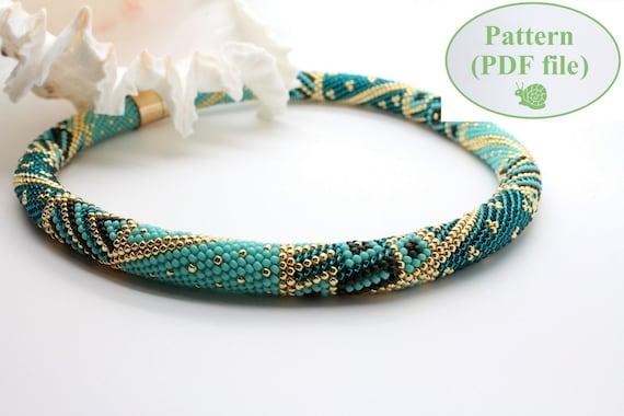 Bead Crochet Pattern Trendy Turquoise Beading Etsy