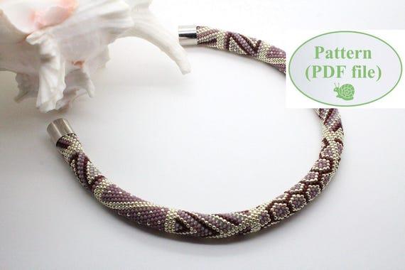 Beading Tutorial Bead Crochet Pattern Scarlette Etsy