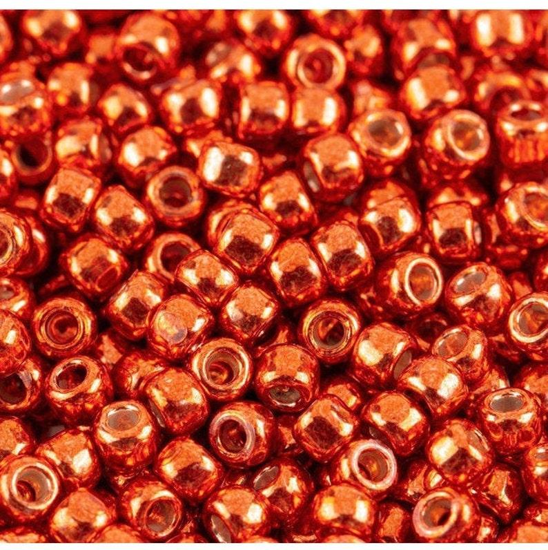 TR-11-PF562 TOHO Round Seed Beads 110 size Galvanized Sun Burnt Orange PermaFinish