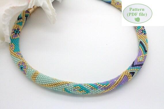 Personalized Bead Crochet Rope Pattern Violetta Etsy