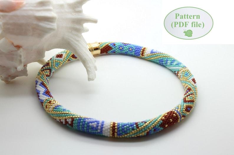Bead Crochet Rope Pattern Samarkand Beaded Etsy