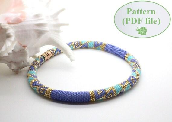 Beading Tutorial Bead Crochet Pattern Maze Crochet Etsy