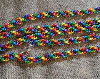 Double spiral chain belt