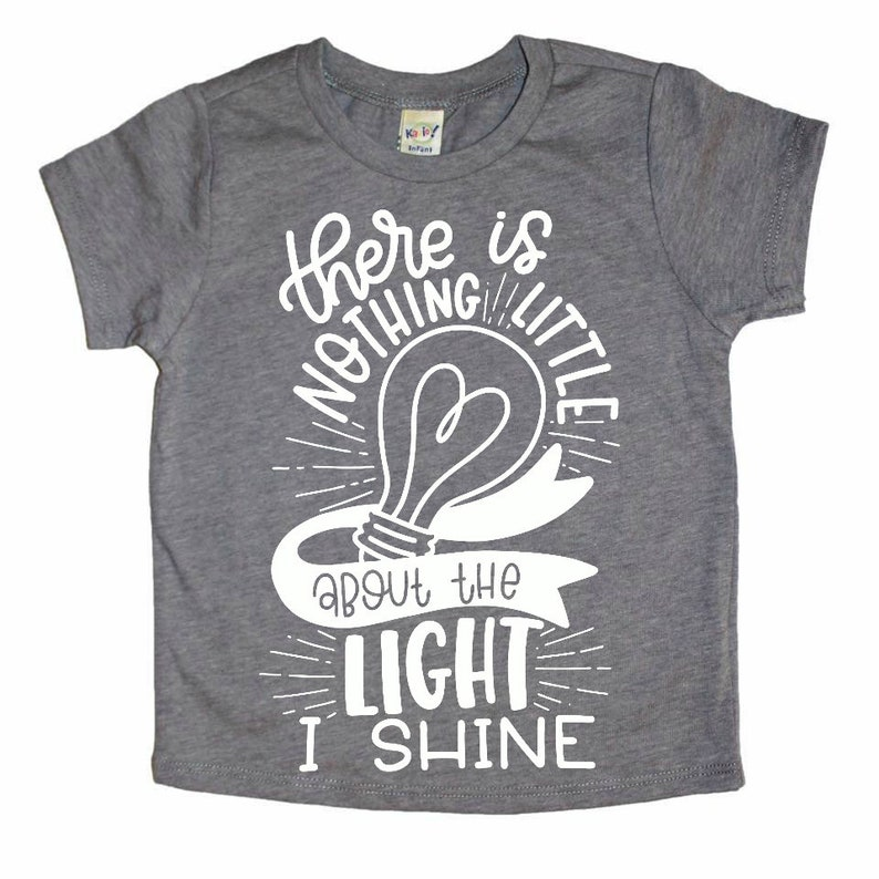 df8c31cdd Little light of mine summer kids shirt unisex baby clothes