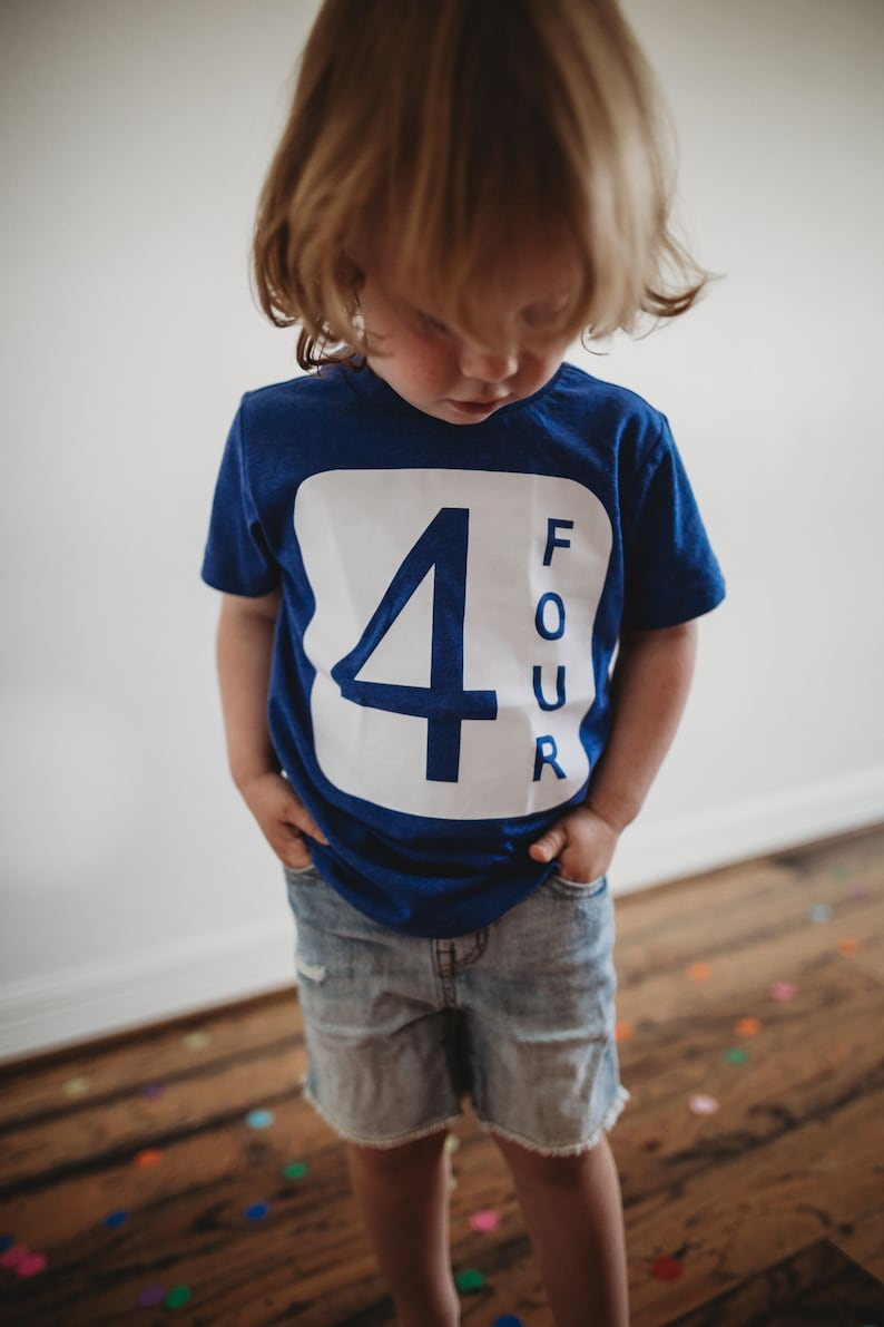 4th Birthday Shirt Boy Fourth Birthday Shirt Girl Birthday