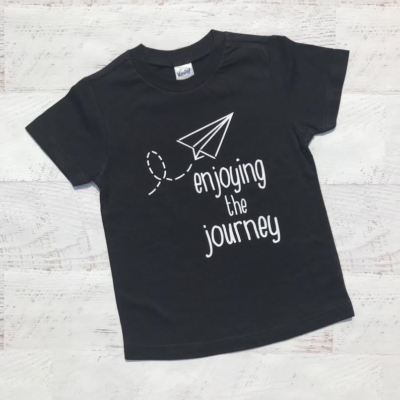 15565566 Enjoy the journey paper airplane shirt trendy boys shirt | Etsy