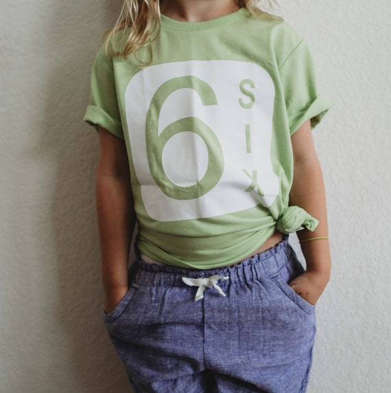 6th Birthday Shirt Boy Sixth Girl
