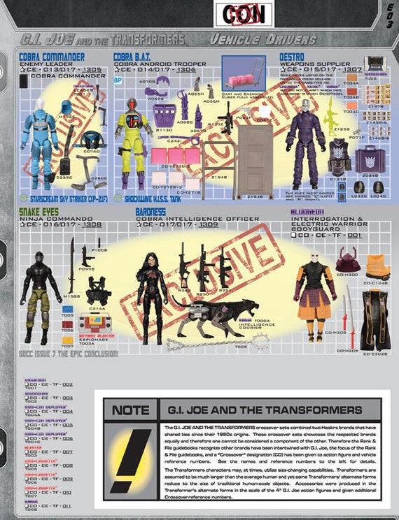Guide G.I Joe 1997-2007 Reference book Cobra Snake Eyes R.A.H.C