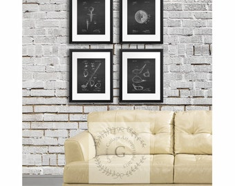 Beau Sports Decor, Golf Art Set Of 4 Prints, Golf Posters, Chalkboard Art  Prints, Golf Decor Ideas, Golf Patents, Golf Gift, Golf Office Decor