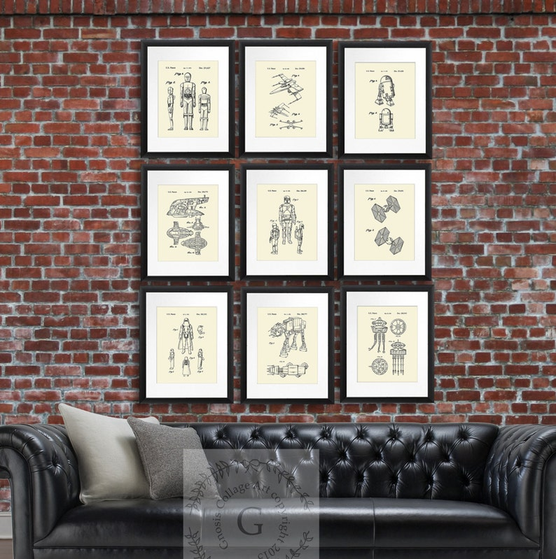 Star Wars Home Decor Set Of 9 Prints Movie Patent