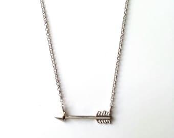 Necklace silver arrow 925 - Silver necklace 925/000 motif arrow - Necklace silver sterling 925