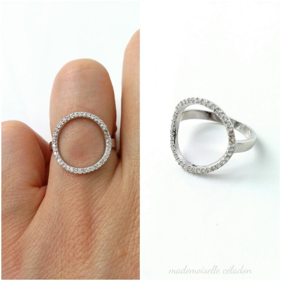 USA vendeur Moon /& Star Band ring sterling silver 925 BEST DEAL Bijoux Taille 10