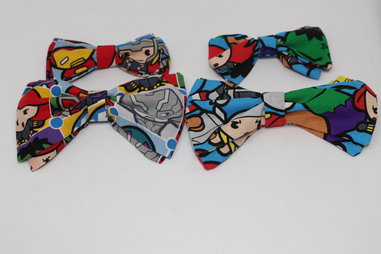 marvel avengers bowtie/hair clip | etsy