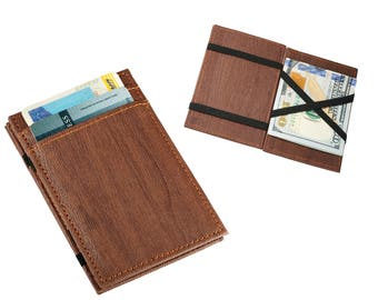 Personalized Magic Wallet - Faux Leather Wallet - Personalized Wallet, Flip-over Wallet, Custom Wallet - Groomsmen Gift, Gift for Him