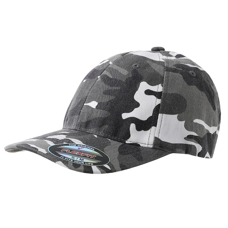 Camo Flex-Fit Hat, Personalized with Custom Embroidery, Personalized  Camouflage Hat, Personalized Baseball Cap, Personalized Cap