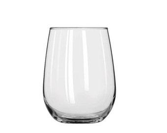 Verre à vin blanc - 17 oz - acaule personnalisé cadeau - gravé au Laser