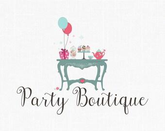 Party Boutique Logo Design Children Logo Kids logo
