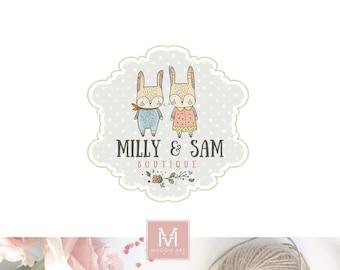Kids Logo,Bunny Logo,Floral Logo, Photography Logo,Artisan Logo, Boutique Logo ,Events Logo, Decor Logo, Stamp Logo, Logo,Watermark