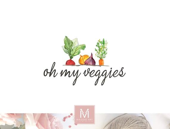 Vegan Food Logo Vegetables Logo Organic Logo Natural Food