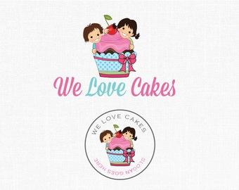 Premade Bakery Logo Design Children Logo Cupcake Logo Sweets Logo Cake Boutique Logo