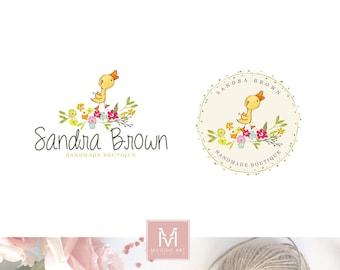 Baby Logo,Floral Logo, Photography Logo,Artisan Logo, Boutique Logo ,Events Logo, Decor Logo, Stamp Logo, Logo,Watermark, Duck Logo