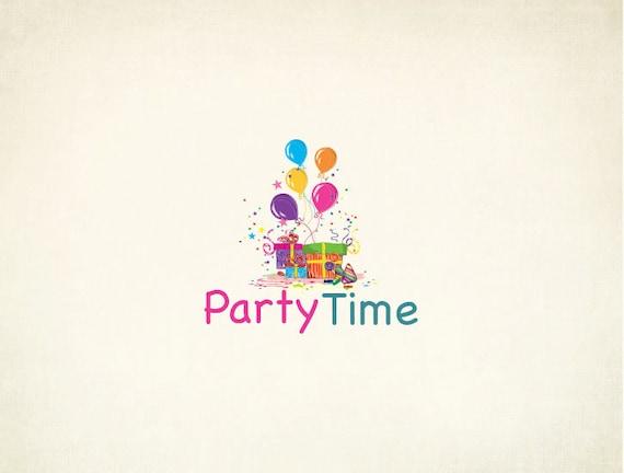 custom party logo design birthday party etsy