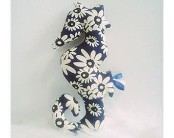 Decoration / toy seahorse Japanese flowers
