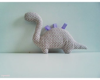 Decoration / toy dinosaur Beige with pink polka dots