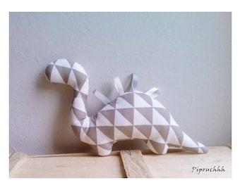 Decoration / toy dinosaur grey Triangles