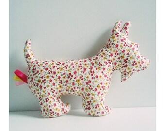 Decoration / toy dog flower motifs